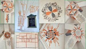 Stubberup Kirke_Kalkmalerier_collage